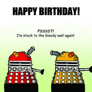 TW284 - Funny Happy Birthday Card Daleks